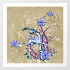 Fantasy Unicorn Art Art Print