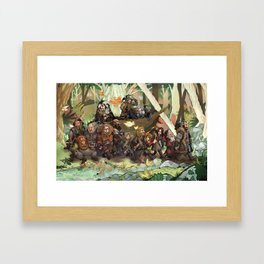 Walking Through the Woods Framed Art Print
