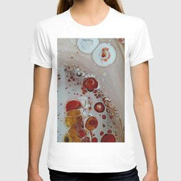 Lace Agate  -   Fluid Abstract Painting - Close-up Acrylic Art T-shirt