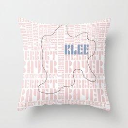 Paul Klee Bauhaus Type Art Throw Pillow
