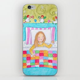 Visions of dollies danced in her head iPhone Skin