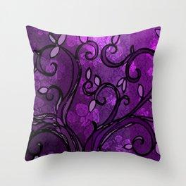 LEAVE - Spring Plum Throw Pillow