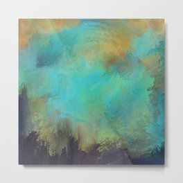A Splash of Light   Abstract Painting Metal Print