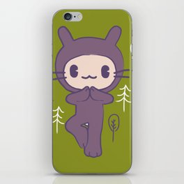 Yoga Pose Tree Bunny iPhone Skin