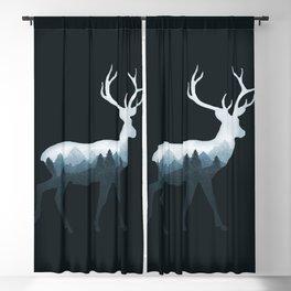 Deer Roe Fawn Elk Moose Double Exposure Surreal Wildlife Animal Blackout Curtain