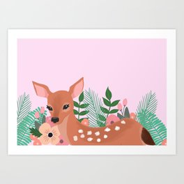 Biche tropical Art Print