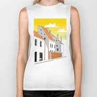 medieval Biker Tanks featuring Medieval houses by LaDa