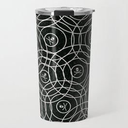 Random Rings Silver Travel Mug