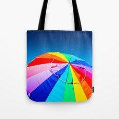 Rainbow Beach Umbrella Tote Bag