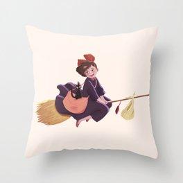 Kiki and Jiji Throw Pillow