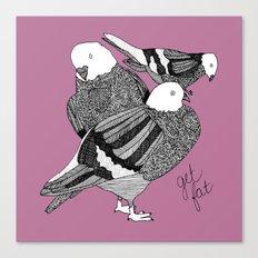 purple pigeons Canvas Print