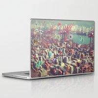 tetris Laptop & iPad Skins featuring Pier Tetris by Ivan Guerrero