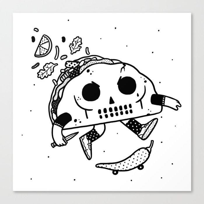 Al Pastor chili-flip Canvas Print