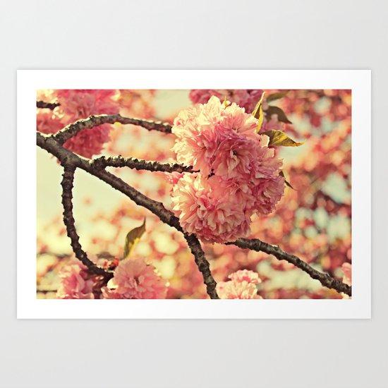 Pink Puffs Art Print