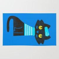 sailor Area & Throw Rugs featuring Fitz - Sailor cat by Picomodi