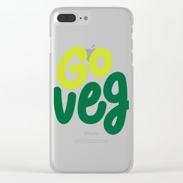 Go Veg sticker Clear iPhone Case