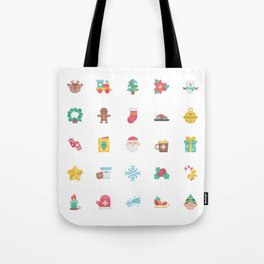 CUTE CHRISTMAS HOLIDAYS WINTER PATTERN Tote Bag