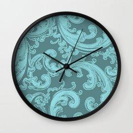Retro Chic Swirl Island Paradise Wall Clock