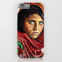 Afghan Girl - Sharbat Gula Painting iPhone Case