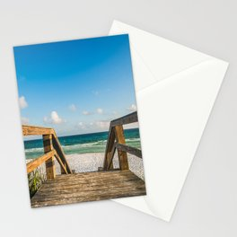 Head to the Beach - Boardwalk Leads to Summer Fun in Florida Stationery Cards