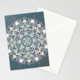 Mandala - Dark Muted & Worn Stationery Cards