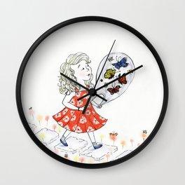 Butterflies, to Go Wall Clock
