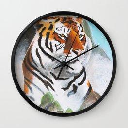 Quiet Tiger - big cat - animal - by LiliFlore Wall Clock