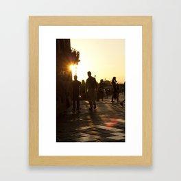 Ponte Vecchio Evening Framed Art Print