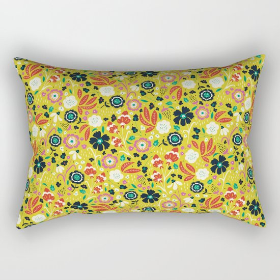 Flourishing Florals Rectangular Pillow