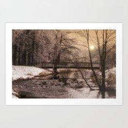 Dream time winter landscape Art Print