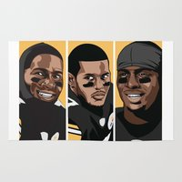 steelers Area & Throw Rugs featuring Young Money by Thirty3