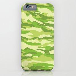 Green Kelp Camo Pattern iPhone Case