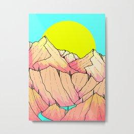 Summer river hills Metal Print