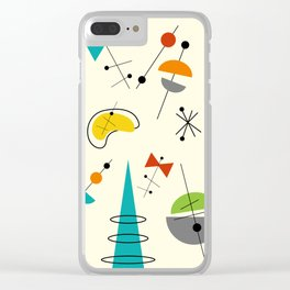 Mid Century 21 Clear iPhone Case