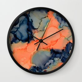 Alcohol Ink Pink Vibes Wall Clock
