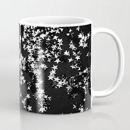 Black Night Glitter Stars #1 #shiny #decor #art #society6 Coffee Mug