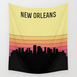 New Orleans Skyline Wall Tapestry