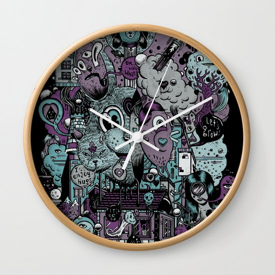 Supernature In The City Of Poison Syrup And Hope Candy Wall Clock