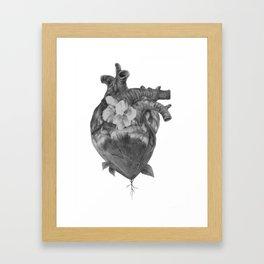 At Ease - Floral Heart Framed Art Print