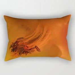 Columbine Flower Edited Orange Rectangular Pillow