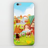 animal crossing iPhone & iPod Skins featuring Animal Crossing by Sama Ma