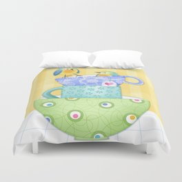 I Was Here First Duvet Cover
