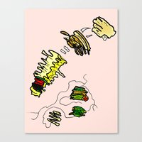 netflix Canvas Prints featuring Basquiat Netflix by alexSHARKE