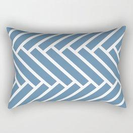 Grayish blue and white herringbone pattern Rectangular Pillow