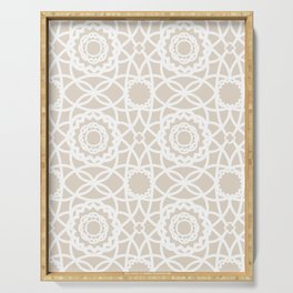 Palm Springs Macrame Lattice Lace Serving Tray