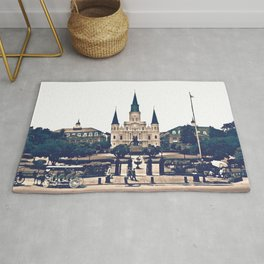 New Orleans Jackson Square Iconic Nola French Quarter Cityscape Travel Lifestyle Rug