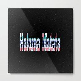 Hakuna Matata stars Metal Print