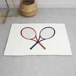 Crossed Rackets Rug