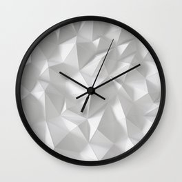 White polygonal landscape Wall Clock