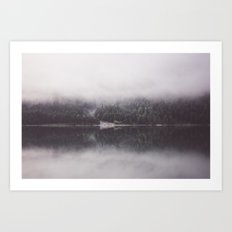 Misty mirror Art Print